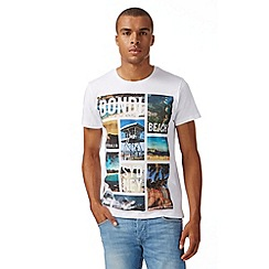Red Herring - White 'Bondi Beach' graphic t-shirt