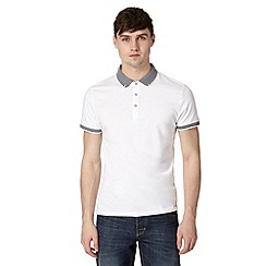 Red Herring - White striped collar polo shirt