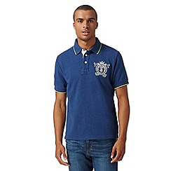 St George by Duffer - Navy neon trim polo shirt