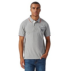 St George by Duffer - Big and tall grey neon trim polo shirt