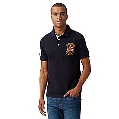 St George by Duffer - Navy short sleeved polo shirt