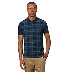 Red Herring - Green button down collar checked polo shirt