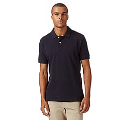 St George by Duffer - Navy basic pique polo shirt