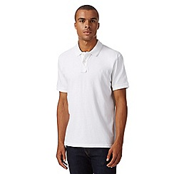 St George by Duffer - White plain pique polo shirt