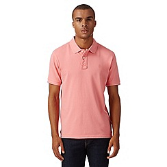 St George by Duffer - Pink basic pique polo shirt
