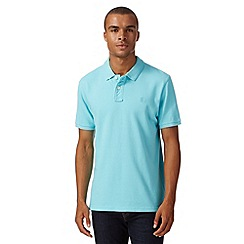 St George by Duffer - Turquoise plain pique polo shirt