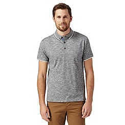 Red Herring - Grey feeder stripe polo shirt