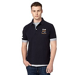St George by Duffer - Big and tall navy mock cuff polo shirt
