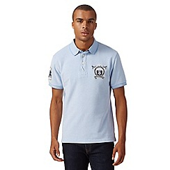 St George by Duffer - Pale blue textured polo shirt