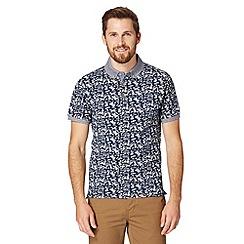 Red Herring - Blue hawaiian print polo shirt