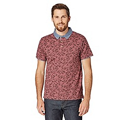 Red Herring - Red hawaiian print polo shirt