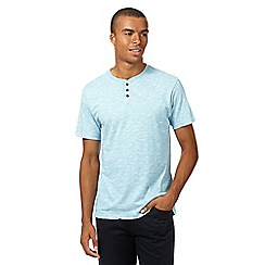 Red Herring - Aqua textured baseball top
