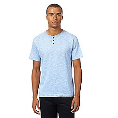 Red Herring - Light blue textured baseball top