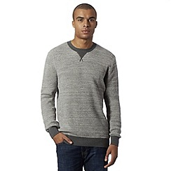 Red Herring - Grey waffle knit jumper