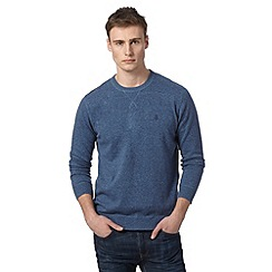 St George by Duffer - Blue crew neck knit sweat
