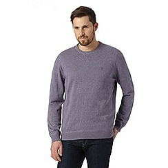 St George by Duffer - Purple twist crew neck jumper