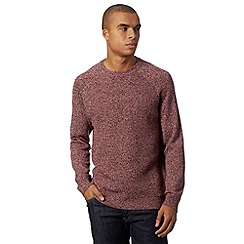 Red Herring - Red twisted raglan jumper