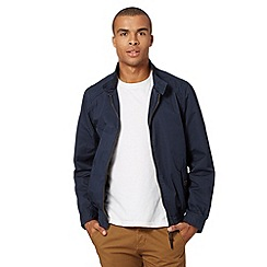 Red Herring - Navy zip harrington jacket