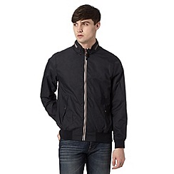 Red Herring - Black funnel neck harrington jacket