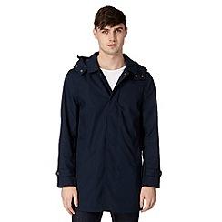 Red Herring - Navy detachable hooded mac coat