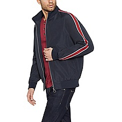Red Herring - Navy zip through ribbed jacket