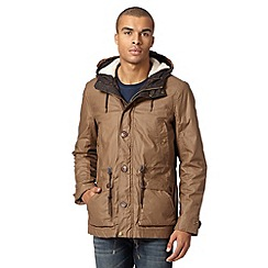Red Herring - Tan borg hood parka jacket