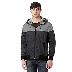 Red Herring - Grey cut and sew hooded jacket