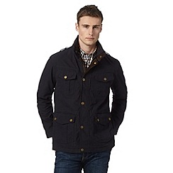 St George by Duffer - Navy funnel neck jacket