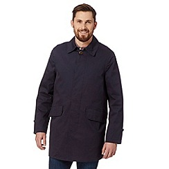 St George by Duffer - Navy logo button mac coat