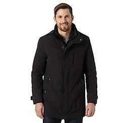 FFP - Black zip fastening mac coat