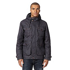 FFP - Navy coated hooded jacket