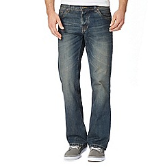 Red Herring - Blue vintage wash bootcut jeans