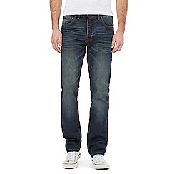 St George by Duffer - Big and tall blue mid wash straight leg jeans
