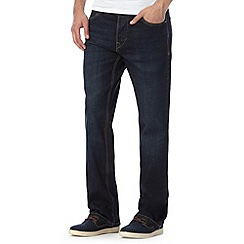 St George by Duffer - Big and tall dark blue rinse bootcut jeans