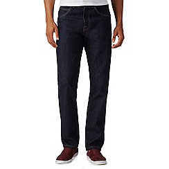 Red Herring - Big and tall dark blue straight fit rinse wash jeans
