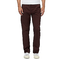 Red Herring - Wine straight leg chinos