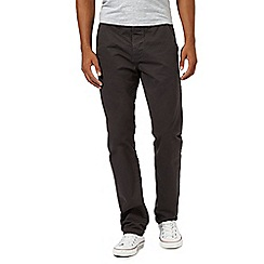 Red Herring - Big and tall dark grey straight fit chinos