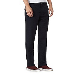 St George by Duffer - Big and tall navy twill straight fit chinos