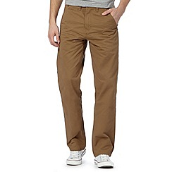 St George by Duffer - Tan twill straight leg chinos