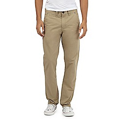 St George by Duffer - Big and tall beige straight chino trousers