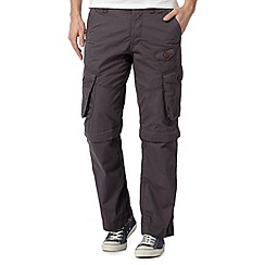 Red Herring - Dark grey zip off cargo trousers