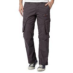 Red Herring - Dark grey zip off cargo trousers