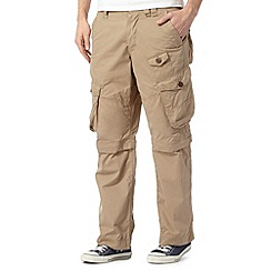 Red Herring - Natural zip off cargo trousers