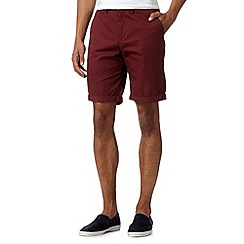 Red Herring - Maroon chino shorts