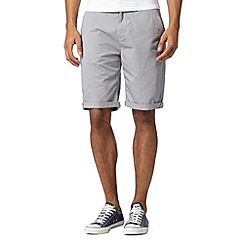 Red Herring - Light grey chino shorts