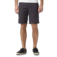 Red Herring - Dark grey chino shorts