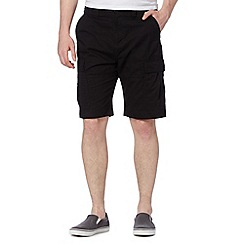 Red Herring - Black cargo shorts