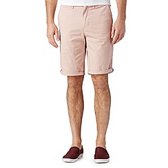 Red Herring - Big and tall red mini dogtooth chino shorts