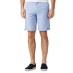 Red Herring - Big and tall light blue mini dogtooth chino shorts