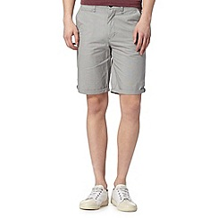 Red Herring - Big and tall grey checked chino shorts